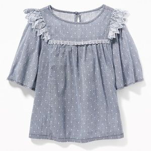 Old Navy Zig-Zag Ruffle Swing Top for Girls